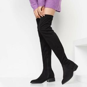 Gray Over the Knee High Boots Aldo